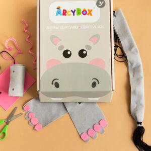 Zestaw kreatywny dla dzieci - strój hipopotam